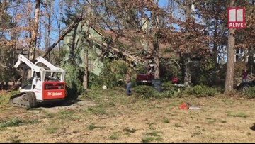 Tornado damage on Christy Drive in Paulding County