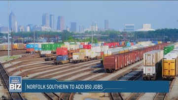 Norfolk Southern to add 850 jobs