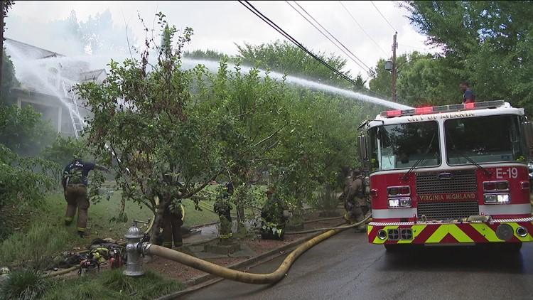 Large fire destroys  northeast Atlanta home