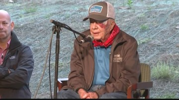 Jimmy Carter in hospital for treatment of pelvic fracture
