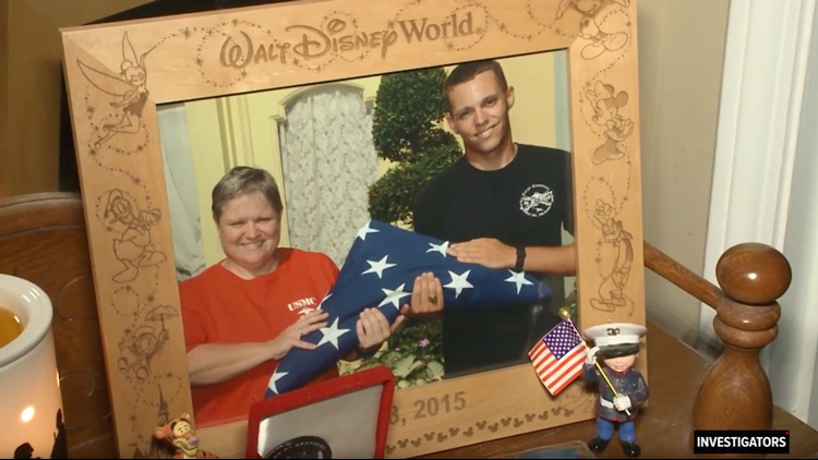 Disney frame of Marine and mom