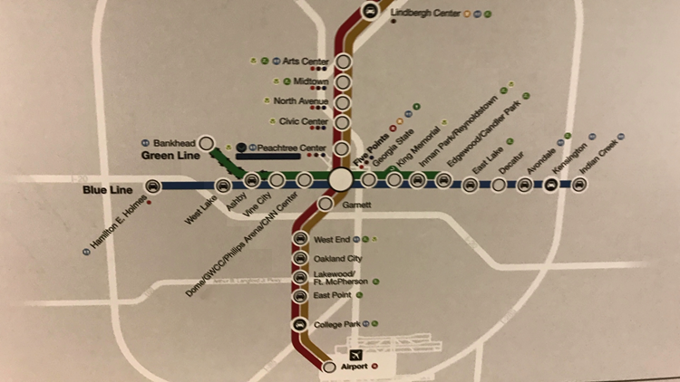 Old MARTA map