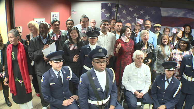 50 people become U S  citizens at Naturalization ceremony at King Center