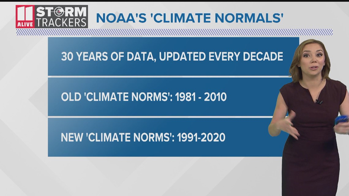 Atlanta is getting warmer, NOAA climate norms show