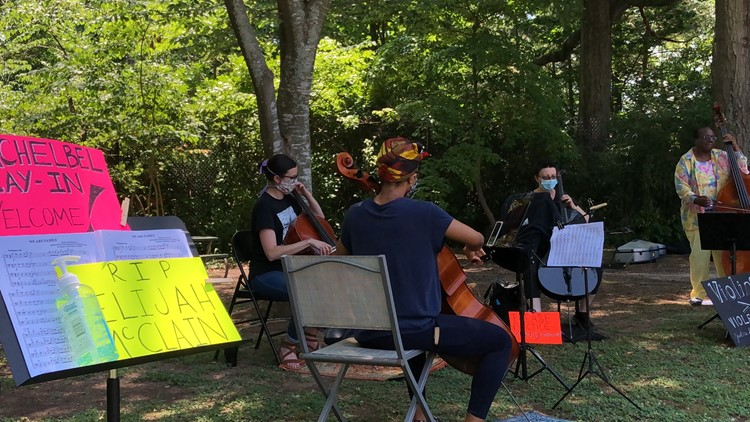 Don't Stop the Music | Atlanta musicians hold lunchtime 'Violin Vigil' for Elijah McClain