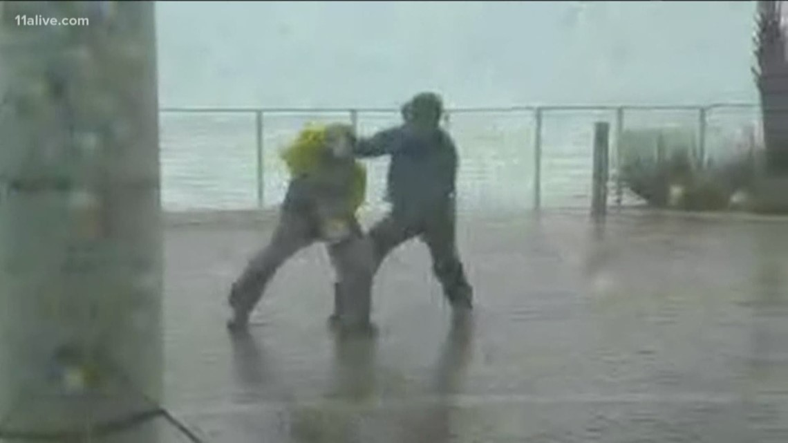 jim cantore saves nbc news reporter kerry sanders during