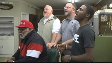 Four men come together to form barbershop quartet