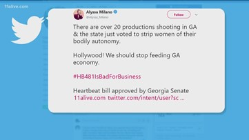 Alyssa Milano to Hollywood: Get out of Georgia