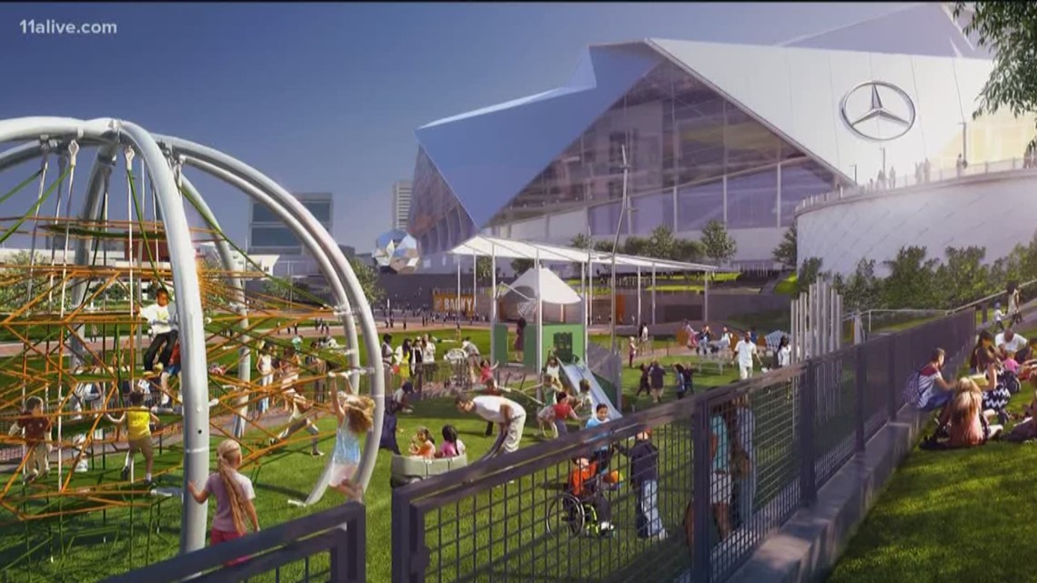 Home Depot Backyard Nearing Completion Near Mercedes Benz Stadium