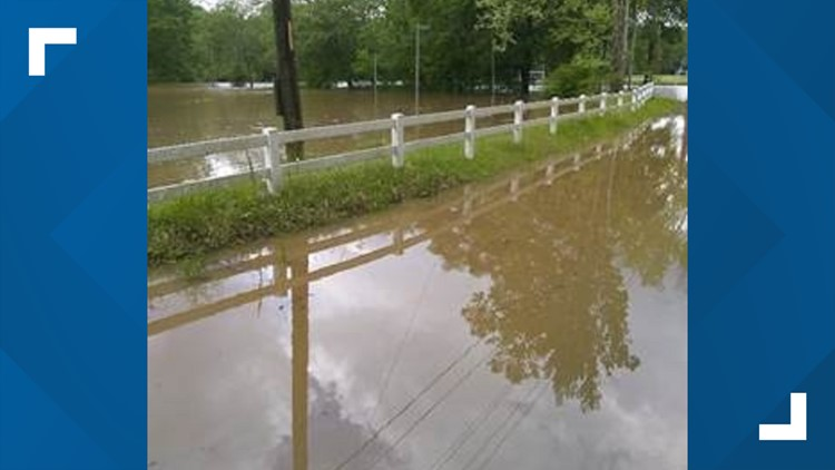 Floodwaters inundate park, road in Lithia Springs after severe storms