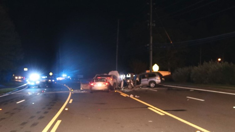 Two children, ages 8 and 14, die in three-vehicle, eight-person crash