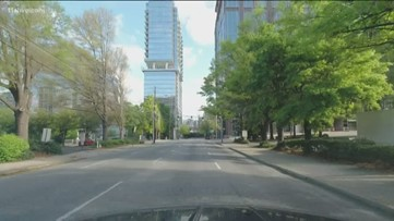 Downtown Atlanta vacant amid calls to shelter-in-place
