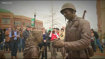 New statue honoring veterans unveiled in Forsyth County