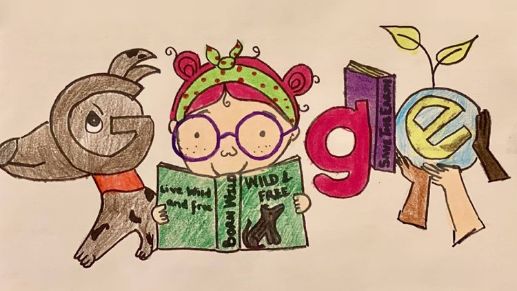 4th Grader chosen as Georgia winner in Doodle for Google competition