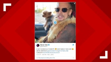 Steven Tyler, a puppy and a police escort   Super Bowl weekend arrives in Atlanta