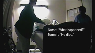 'Can't breathe. Help me,' he begged as nurses laughed. But jury may never see video of vet's death