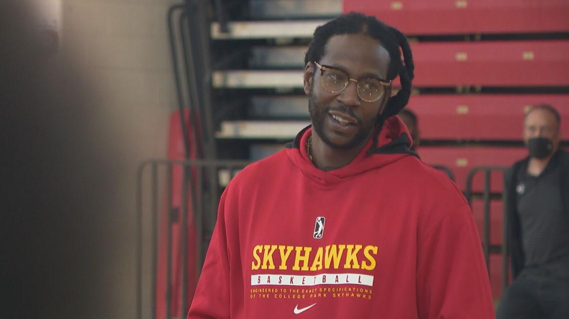 2 Chainz motivates participants at College Park Skyhawks' open tryouts
