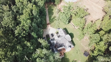 Drone video of storm damage from Forsyth County