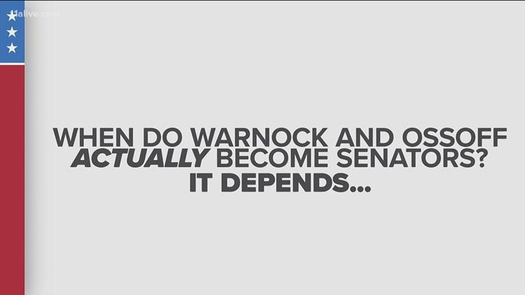 When will Warnock, Ossoff become Senators?