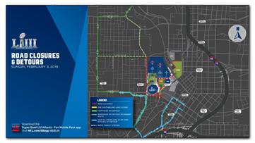 Super Bowl street closures | Getting through traffic in downtown Atlanta