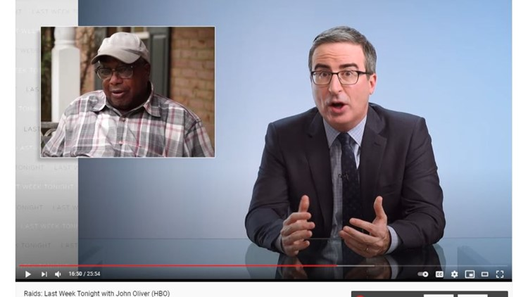 Last Week Tonight segment on police raids featured 11Alive report on botched no-knock raid, Baby Bou Bou case