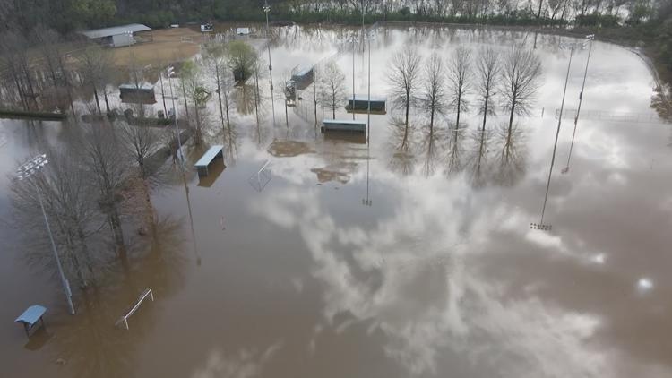 Major flooding in Floyd County