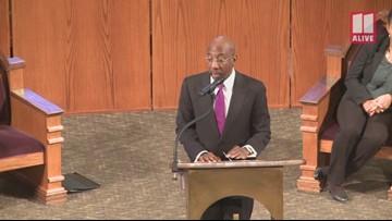 Sen. Johnny Isakson speaks at Historic Ebenezer Baptist Church