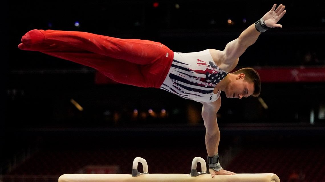 Brody Malone competes in men's gymnastics individual all-around final | Result