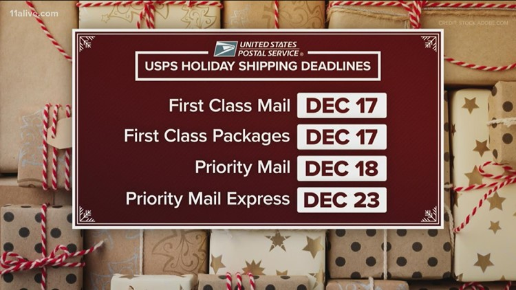 Shipping deadlines to know this holiday season