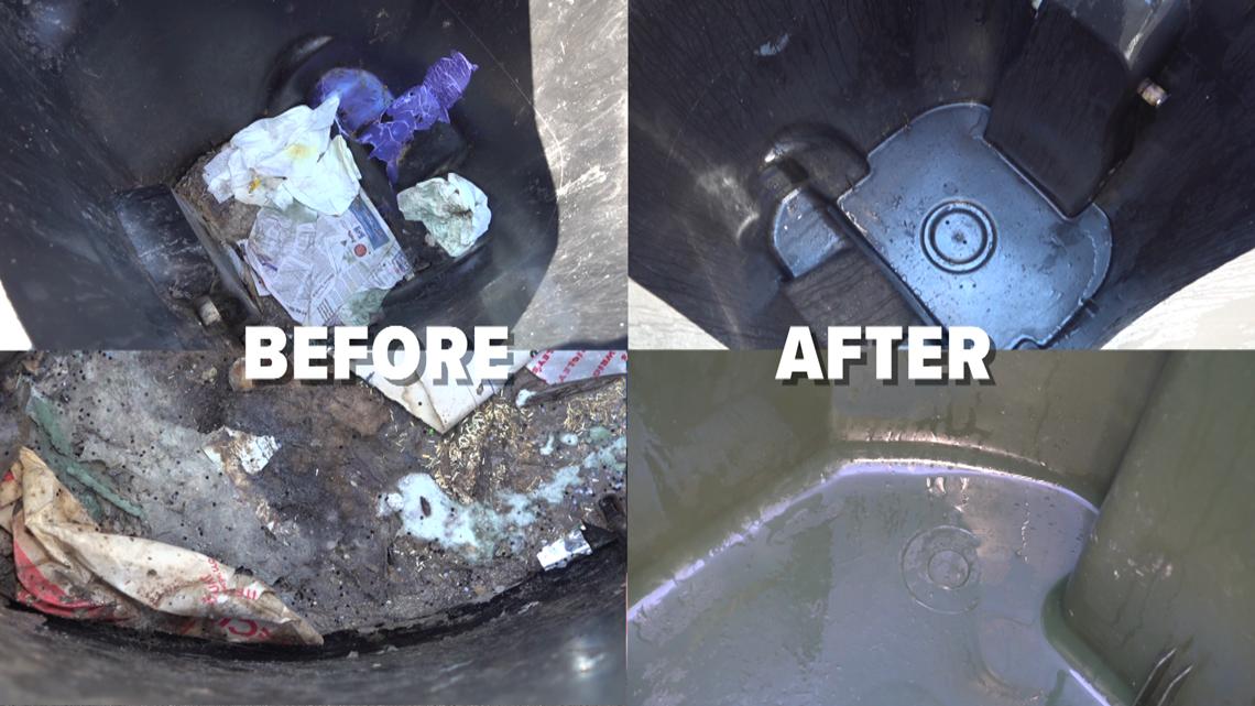 "How to keep your trash bins ""spiffy"""