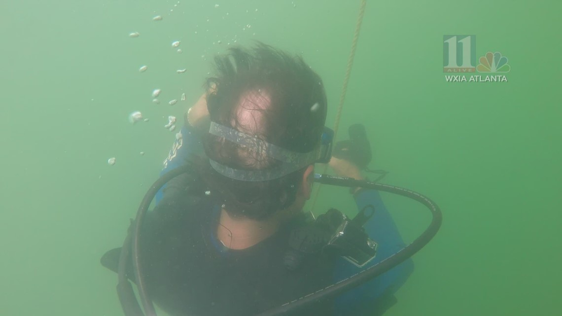 UP-CLOSE: Divers descend into Lake Lanier to find $100K earring