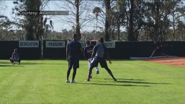 Braves pitchers, catchers train in Florida