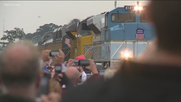 Magnolia, Texas shows up to salute final ride of George H.W. Bush