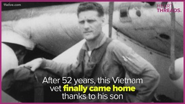 Air Force vet shot down over Laos brought home after 52 years