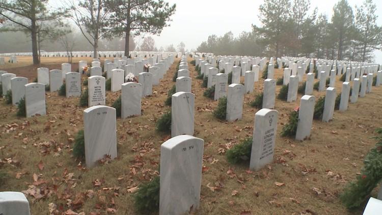 Wreaths at Marietta National Cemetery