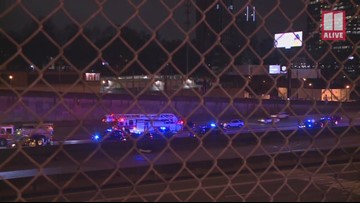 APD vehicle involved in wreck on Downtown Connector