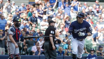 Brewers hang on for 5-4 win over Braves