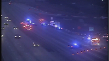Multi-vehicle wreck blocked GA 400 northbound near Abernathy Road