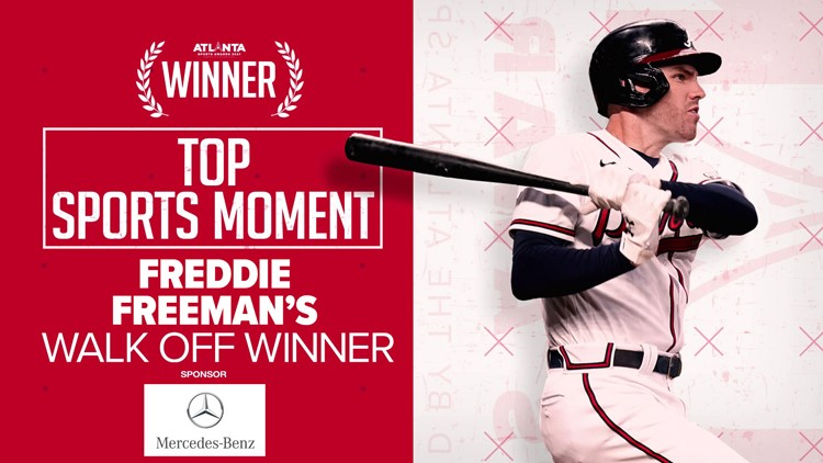 Freddie Freeman's walk-off winner is the 2021 Atlanta Sports Awards Top Sports Moment