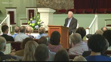 Jimmy Carter to teach Sunday school despite broken pelvis