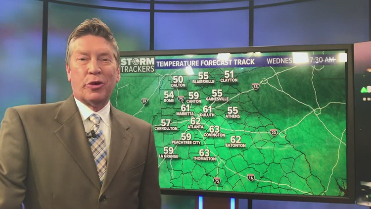 Cooler and wetter Wednesday