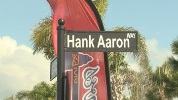 Braves name street after legend Hank Aaron during spring training in Florida