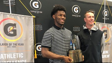 Marietta's Arik Gilbert surprised with Gatorade Football Player of the Year Award by Matt Ryan