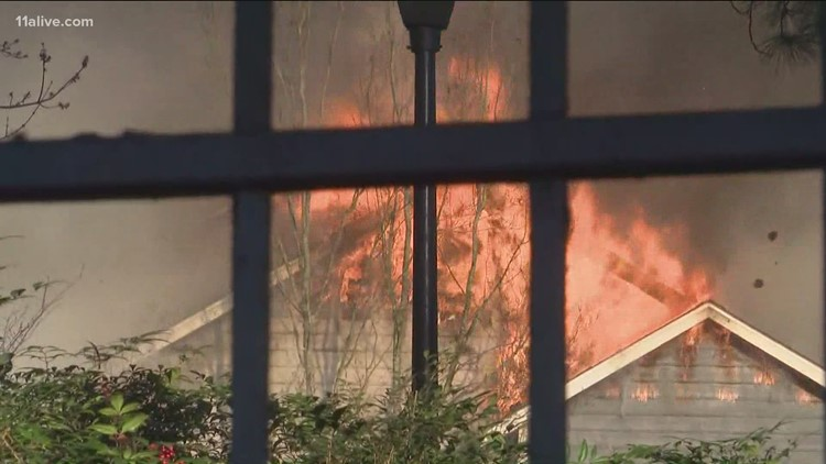 Brookhaven apartment fire flares again hours after crews initially put out flames