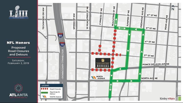 NFL Honors street closures (updated as of Jan 12)