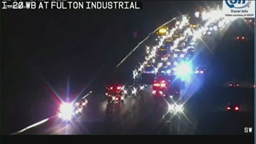 6-car wreck sends one to hospital, halts traffic on I-20 EB