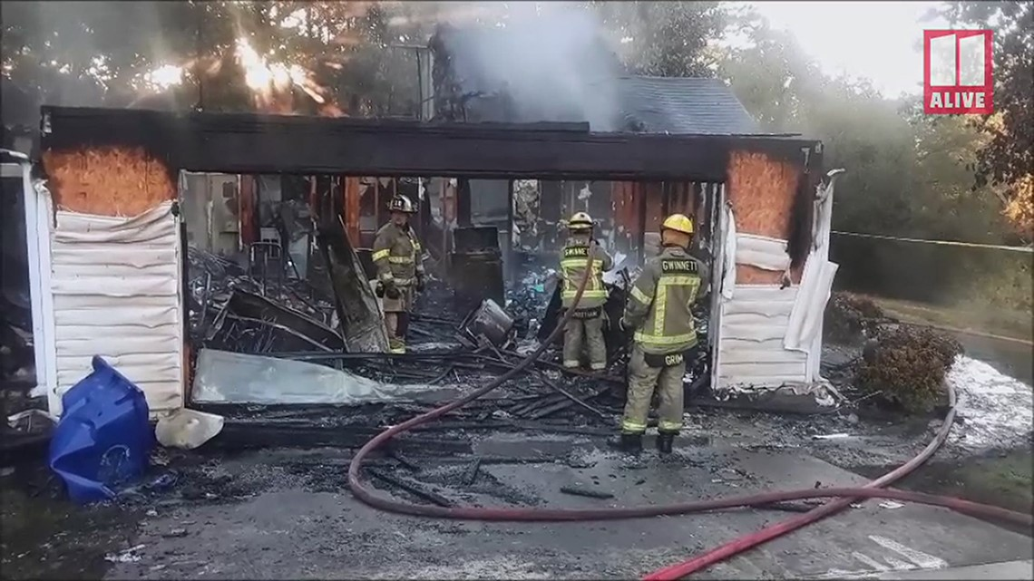 Family of four displaced by Lawrenceville house fire