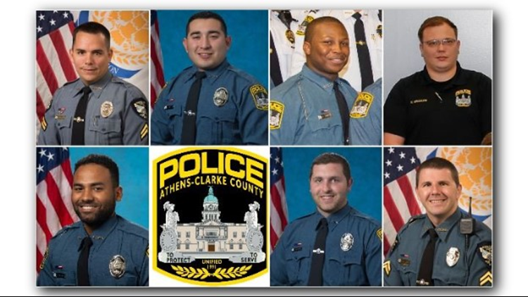 Athens-Clarke County police officers who fired on suspect