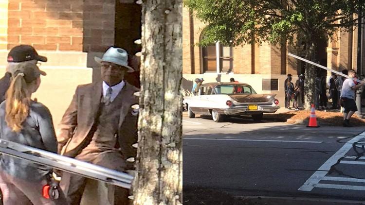 """Behind the scenes: Samuel L. Jackson films """"The Banker"""""""