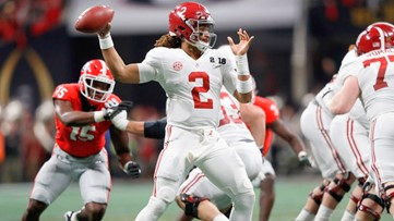 Hurts so good: Benched QB rallies Alabama to thrilling comeback win over UGA